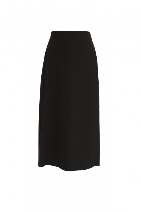 Black Maxi Length School Skirt (7055-BLK)