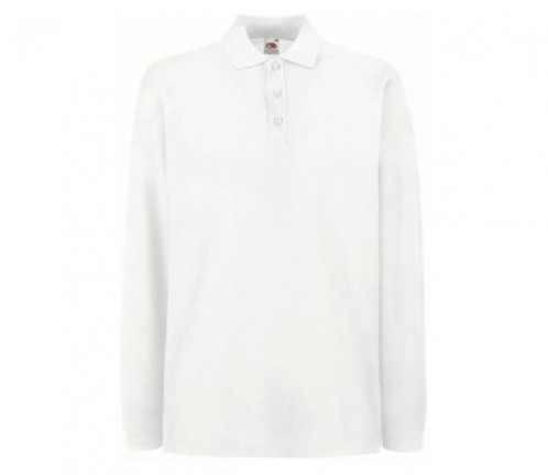 JTS White Long Sleeve Polo Shirt - Senior School (JTSS7096)