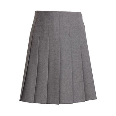 Stitched-Down Pleats School Skirt (7334)