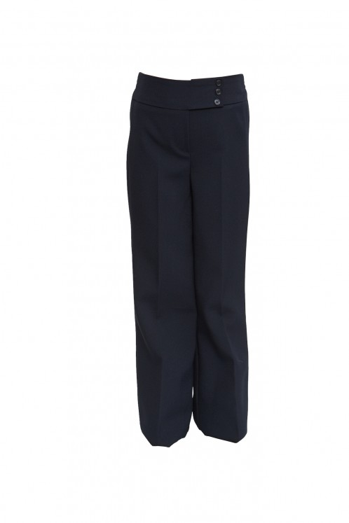 Navy 3-Button Junior Girls Trousers (7339NVY)
