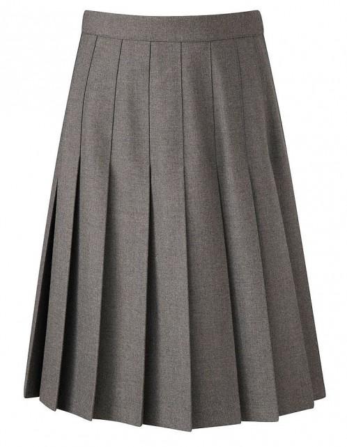 Davenport Knife Pleat School Skirt (7419GREY)