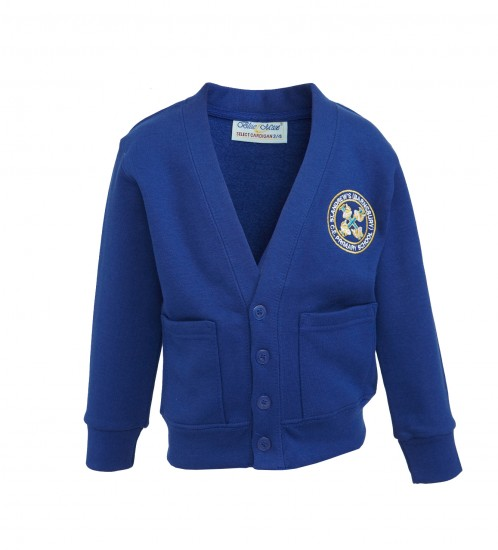 St Andrew's Sweat Cardigan With School Logo (8821)