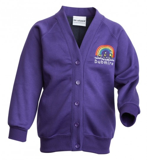 Dubmire Primary Compulsory School Sweat Cardigan (DP8431)