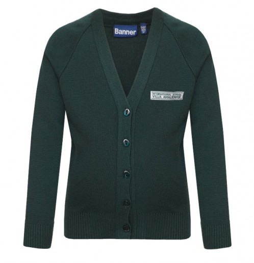 ISVA V-Neck Cardigan with School Logo (8566)