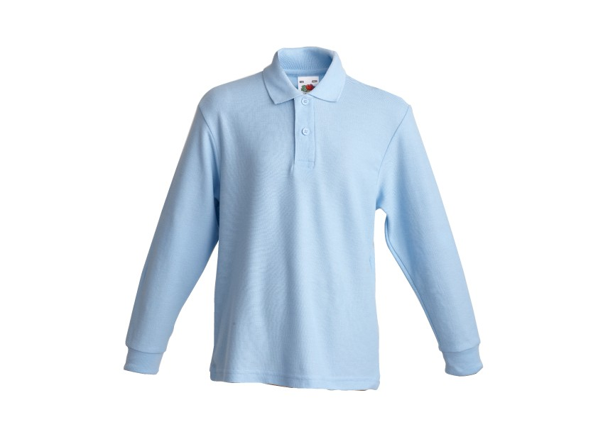 9bd9a2790 Childrens Long-Sleeve Polo T-Shirt by 'Fruit of the Loom' (7096 ...