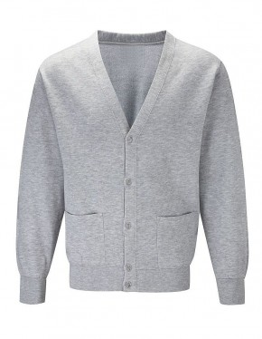 Milford School Sweat Cardigan with School Logo (8911)