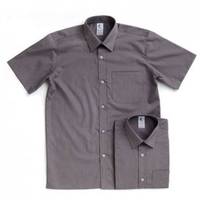 Grey Short Sleeve Shirts - Twin Pack (7023)