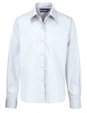 White L/S School Blouses - Twin Pack (7070)
