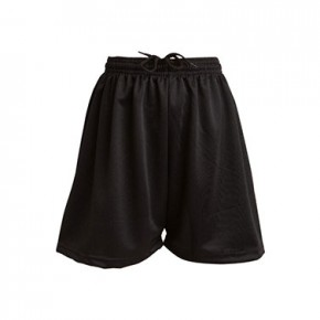 Black Mesh P.E. Shorts (7377BLK)