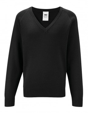 50/50 V-Neck Long-Sleeve Pullover (7425)
