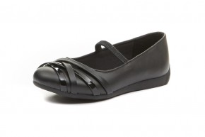 """Yarmouth"" Junior Girls School Shoes (7441)"