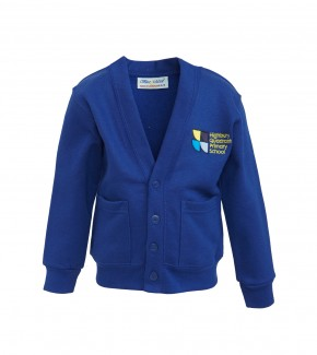 Highbury Quadrant Sweat Cardigan with School Logo (8751)
