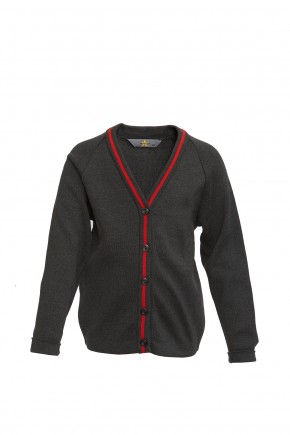 YGGIC Cardigan with Red Stripe (8773)