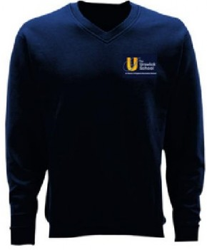 Urswick School V- Neck Sweatshirt with Logo (8950)