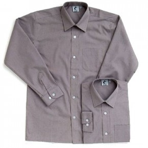 Grey Long Sleeve Shirts - Twin Pack (7020)