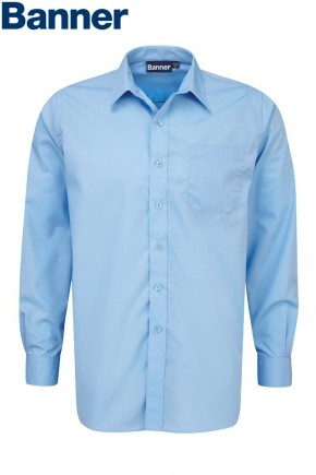 Blue Long Sleeve Shirts - Twin Pack (7021BLU)