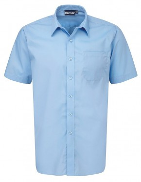 Blue Short Sleeve Shirts - Twin Pack (7022BLU)