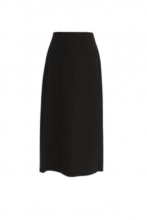 Black Maxi Length School Skirt (7055-BLK)