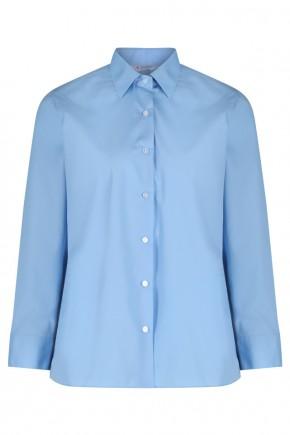 Blue L/S School Blouse - Twin Pack (7071)