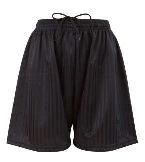 Black Shadow Stripe Football Shorts (7210BLK)
