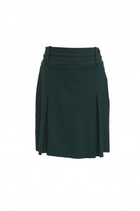 Junior Girls 2 Mock Belts Skirt (7332)