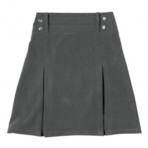 Grey Junior Girls 2 Mock Belts Skirt (7332GREY)