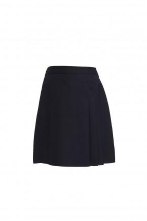 Navy Junior Girls 3 Side Pleat Skirt (7333NAVY)