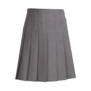 Stitched Down Pleats School Skirt (7447)