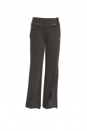 Grey Front Jetted Pockets Senior Girls Trousers (7340GREY)