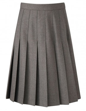 Davenport Knife Pleat School Skirt (7419GREY)