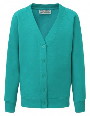 MORA Cardigan with School Logo (8251)