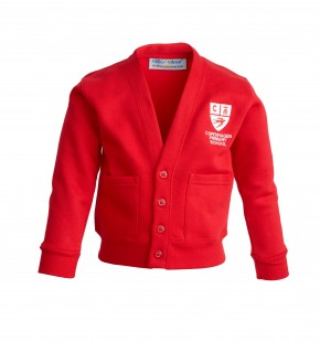Copenhagen Red Cardigan with School Logo (8601)