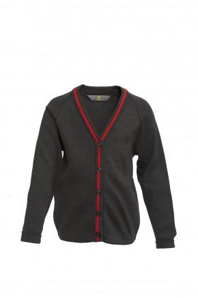 YGGIC Cardigan with Red Stripe (8773)