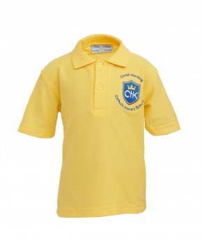 CTK Gold Polo Shirt with School Logo (8791)