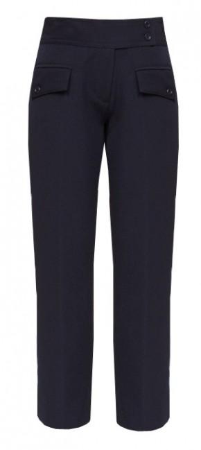 Navy Senior Girls 2-Flap Pocket Trousers (7065NVY)